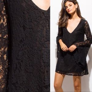 Dresses - Cut Out Black Lace Dress